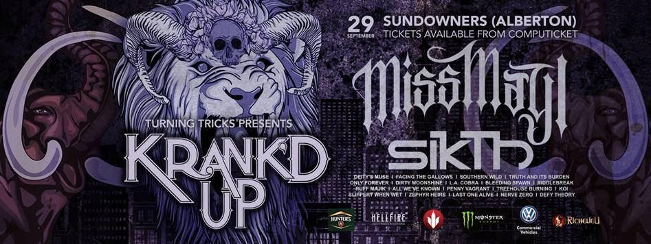 South Africa's premier rock & metal festival Krank'd announce final line-up