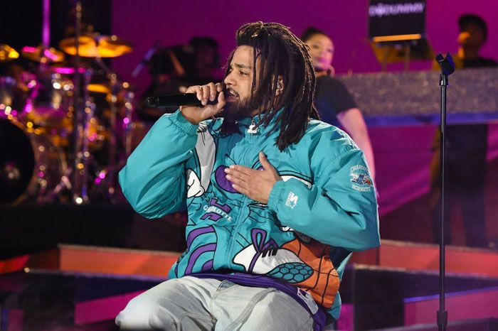 J. Cole Performs at NBA All-Star Game Halftime Show