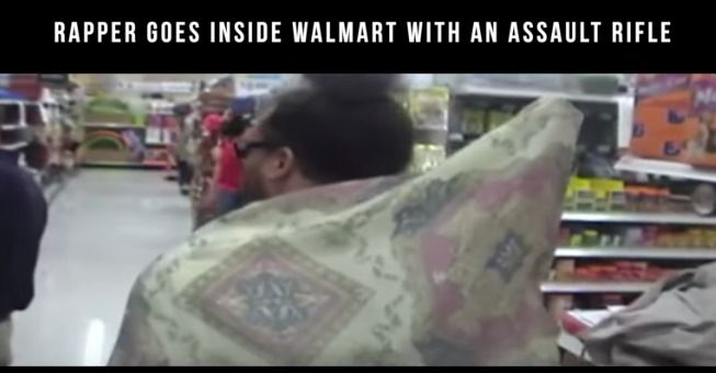 Hip Hop Artist, Skoolboy Bliss, Enters Wal-Mart With An Assault Rifle – Doesn't Get Stopped!