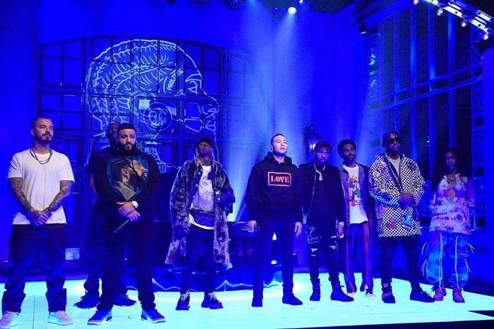 DJ Khaled Pays Tribute to Nipsey Hussle During SNL Season Finale Performance